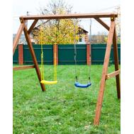 Детские деревянные качели - ВЫШЕ ВСЕХ,  2 секции, фото 1